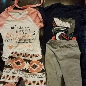unknown Matching Sets - 3t girl clothes
